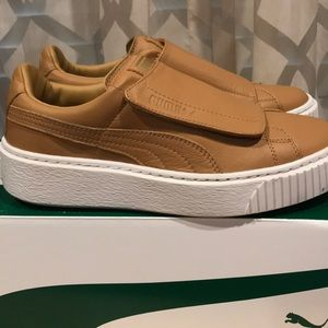 b3fc63a80eca Puma Shoes - PUMA WOMENS BASKET PLATFORM STRAP APPLE CINN US6.5